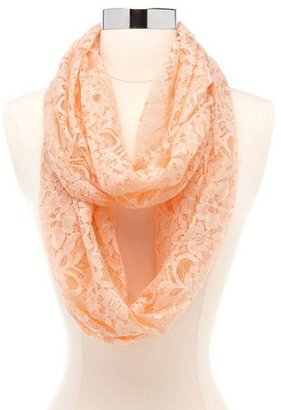 Charlotte Russe Floral Crochet Lace Infinity Scarf