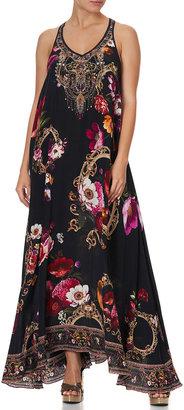 Camilla Floral Print V-Neck Racerback Maxi Dress
