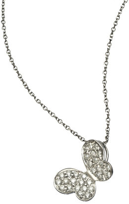 KC Designs White Gold and Diamond Butterfly Necklace