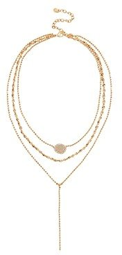 BaubleBar Musia Layered Lariat Chain Necklace, 15.5-18