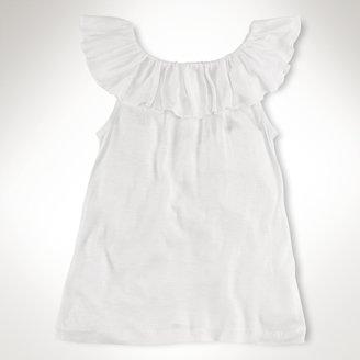 Cotton Sleeveless Ruffled Top
