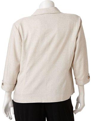 Sag Harbor open-front jacket - women's plus