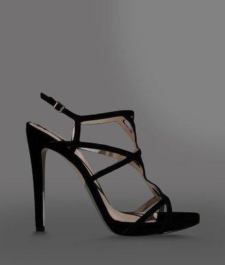 Giorgio Armani Multi-Strap Suede High Heel Sandal