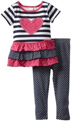 Babytogs Baby Togs Girl's 2-6X Heart Stripe Le...