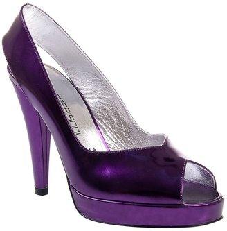 Bruno Frisoni Metallic open toe shoe