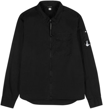 C.P. Company Black Cotton Overshirt