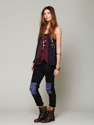 Free People FP Patched Twill Herringbone Pant