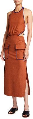 STAUD Bree Side-Splits Dress