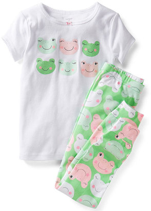 Carter's Little Girls' 2-Piece Cotton Pajamas