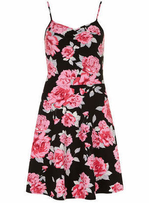 Dorothy Perkins Tall black floral cami dress