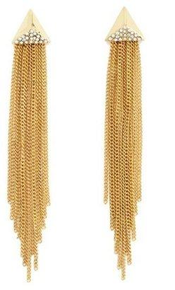 Charlotte Russe Pyramid Fringe Dangle Earrings