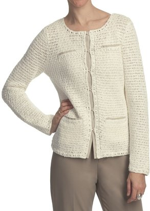 Pendleton Cafe Chic Cardigan Sweater - Cotton-Linen (For Women)