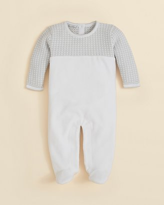 Kissy Kissy Infant Unisex Harmony Velour Footie - Sizes 0-6 Months