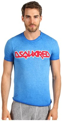 DSquared DSQUARED2 Sexy Slim Fi Coon/Linen Logo Tee Men's T Shir