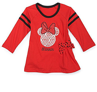 Disney 2T-6X Minnie Mouse Hi-Low Hem Tunic Top