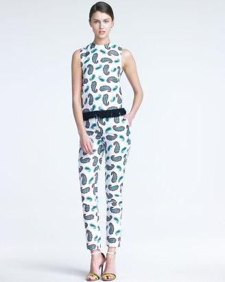 J.W.Anderson Silk Paisley-Print Trousers