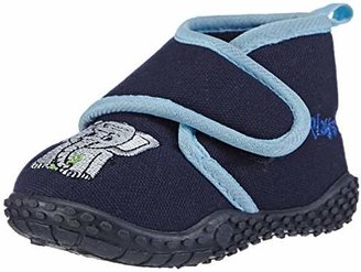 Playshoes Boys House Elephant Design Slippers 201753 2.5 UK Child, 18 EU, Regular