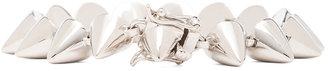 Eddie Borgo Small Plated Brass Cone Bracelet in Silver