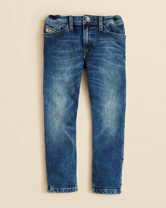 Diesel Boys' Waykee Medium Wash Straight Leg Jeans - Sizes 4-7