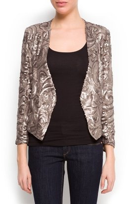 MANGO Sequined asymmetric blazer