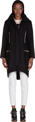Chloé Black Wool Felt Coat