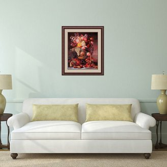 Amanti art ''Fruit and Flower Piece, 1848'' Framed Wall Art by William Sharp