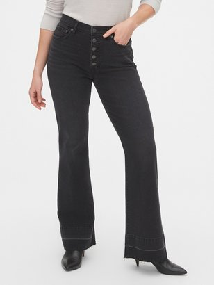 Gap High Rise Button-Fly Flare Jeans with Secret Smoothing Pockets