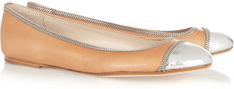 KORS Otley cap-toe leather ballet flats