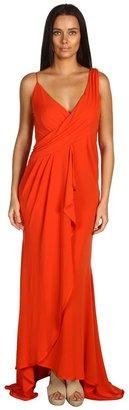 Z Spoke Zac Posen Jersey Wrap Gown (Orange) - Apparel