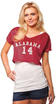 Chicka-d alabama crimson tide mesh crop top - women