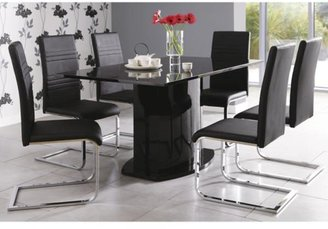 Jet High Gloss Table + 6 Chair Package Deal