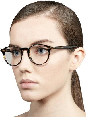 Oliver Peoples Elins Round Fashion Glasses, Cocobolo