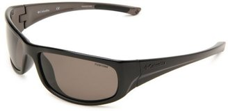 Columbia Granite Tors Rectangle Sunglasses,Shiny Black & Metallic Gunmetal Frame/Grey Lens,One Size