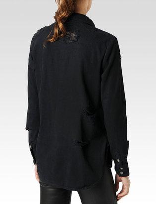 Paige Eden Shirt / Black Destructed