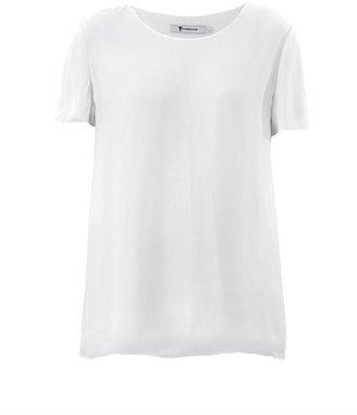 Alexander Wang Silk overlay jersey T-shirt