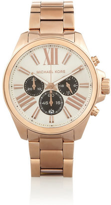 Michael Kors Wren rose gold-plated stainless steel chronograph watch