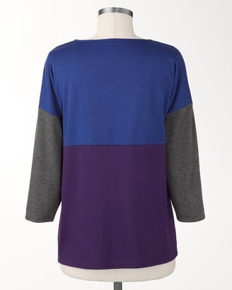 Coldwater Creek Colorblock knit top