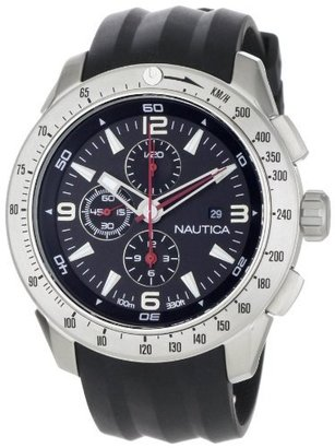 Nautica Men's N17591G NST 101 Black Resin Black Dial Watch