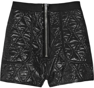Alexander Wang Quilted shell micro shorts
