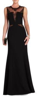 BCBGMAXAZRIA Sachie Lace-Inset Gown