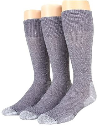 Thorlos Over Calf Ultra Light 3 Pair Pack (Quarry Grey) Crew Cut Socks Shoes