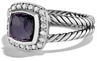 David Yurman Petite Albion Ring with Black Orchid & Diamonds