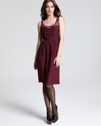 Burberry Sweetheart Dress - Melissa Sleeveless with Sheer Neckline