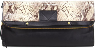 Twelfth St. By Cynthia Vincent Banker's Python-Print Fold-Over Clutch
