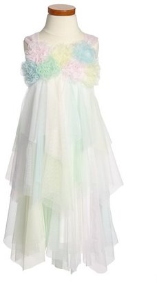 Biscotti 'Easter Basket' Ruffled Dress (Little Girls & Big Girls)