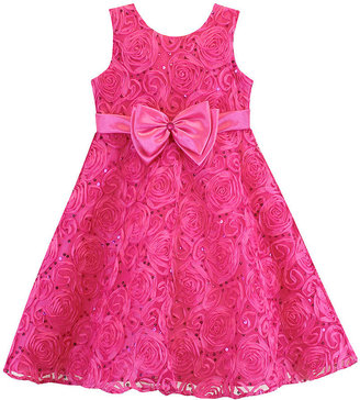 Jayne Copeland Little Girls' Sequined Soutache Dress