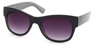 Charlotte Russe Glitter Trim Plastic Sunglasses