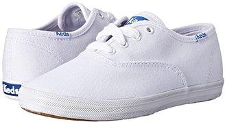 Keds Kids Original Champion CVO (Little Kid/Big Kid) (White Canvas) Girls Shoes