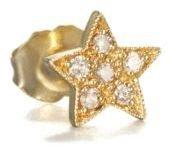 Sydney Evan Diamond & 14K Yellow Gold Star Single Stud Earring
