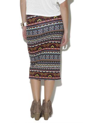 Wet Seal Tribal Midi Skirt